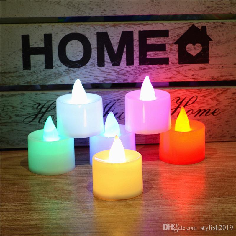 2019 Sıcak Yeni LED Mum Işık Elektronik Mum Noel Malzemeleri Düğün Dekorasyon Işıkları Doğum Günü Mumları WCW756