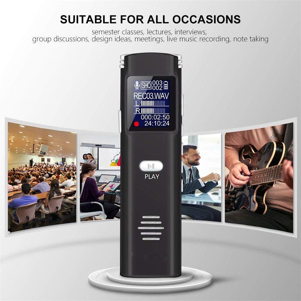 مهنة المحمولة ستيريو 16GB الصلب لاعب تسجيل رقمية صغيرة تسجيل أغنية القلم 8GB صوت الراديو الموسيقى MP3