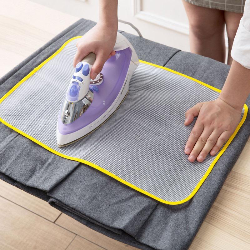 Высокое качество 1PCS Новые прибытия термостойкой ткани сетки Гладильная доска Мат Ткань крышка Protect Гладильная Pad