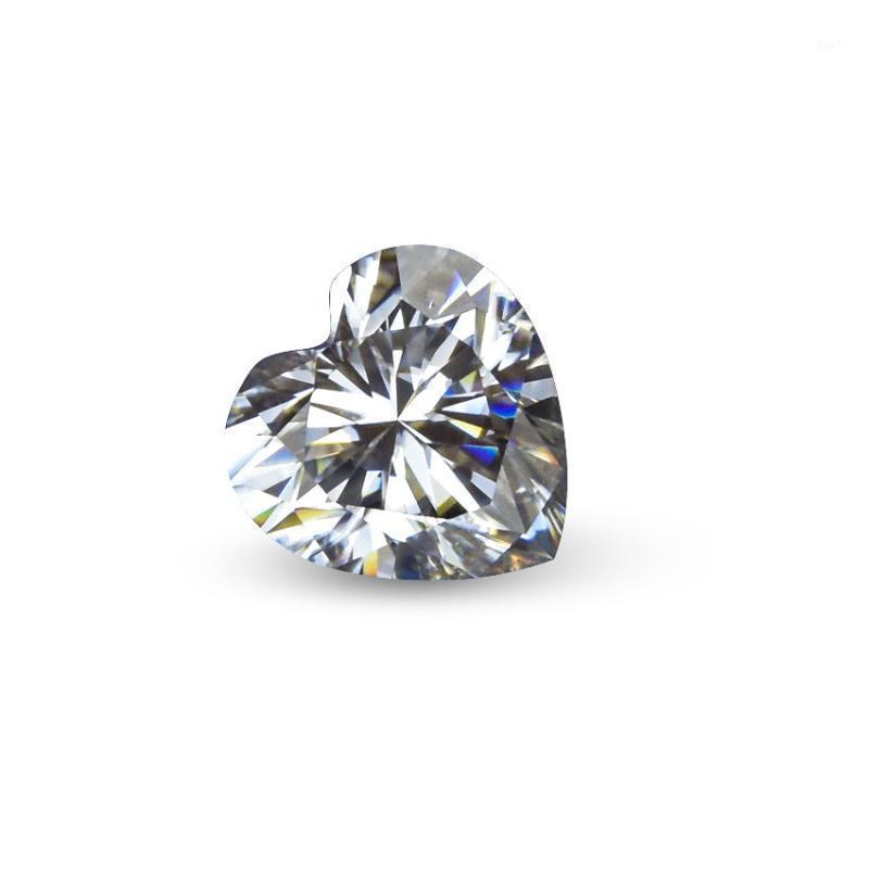 القلب قص لا تشوبه شائبة D اللون مويسانيتي الماس من السهل اجتياز اختبار أكبر من أو يساوي 0.5CT1