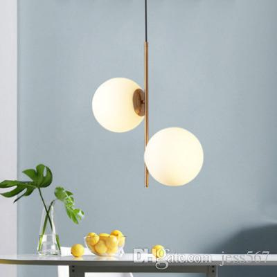 Lamba Hanglampen Görkeminin Asma Odası Cam Topu Dekorasyonu Ev Aydınlatma Yemek Modern Sarkıt Işıklar Mutfak Fikstür İçin Yaşam