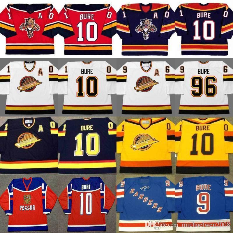 # 96 Павел Буре Флорида пантеры Джерси 1999 Нью-Йорк Рейнджерс 2003 Ванкувер Кэнакс 1994 1995 1996 Пользовательские CCM ретро Hockey трикотажных изделий