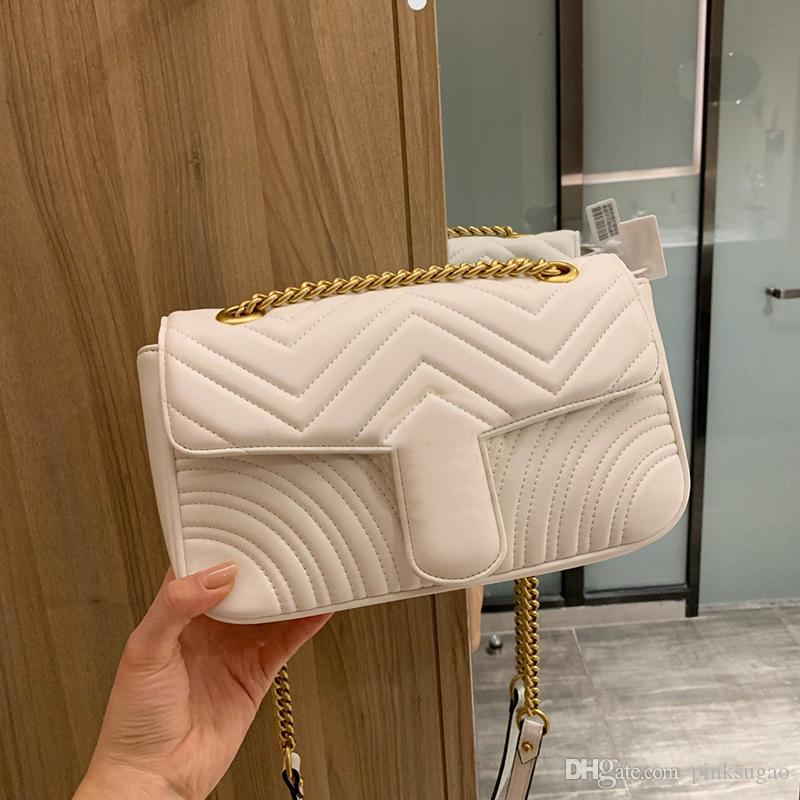 Rosa borse del progettista Sugao lusso borsa Gmetal lettera genuino donne del cuoio catena tracolla progettista della frizione della borsa con la scatola di colore 3