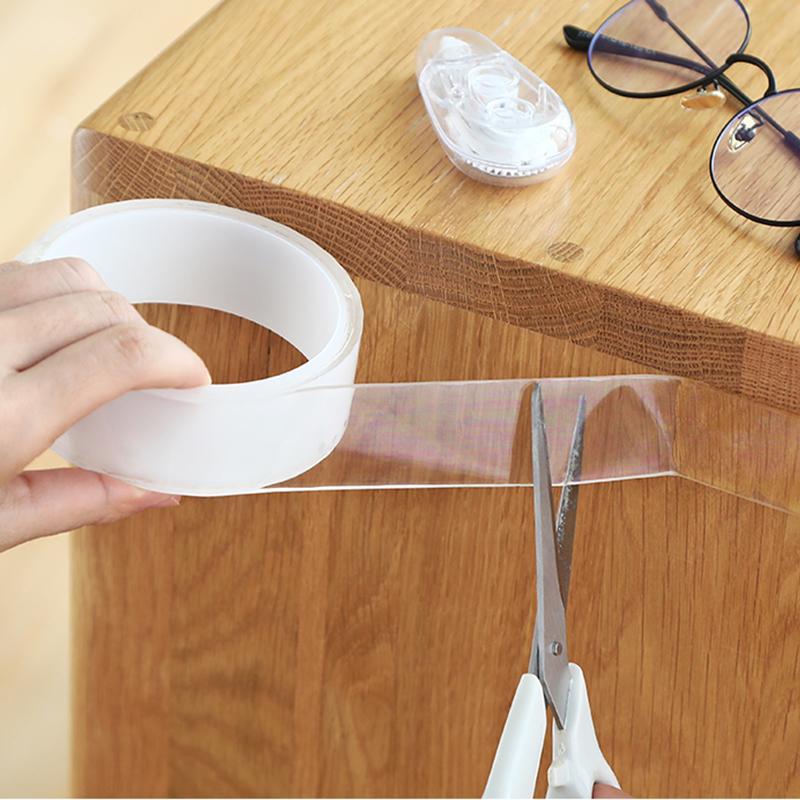 1/3 / 5mtransprent universal double-stadget Magic nano tape Washable and reusable non-marking nano tape