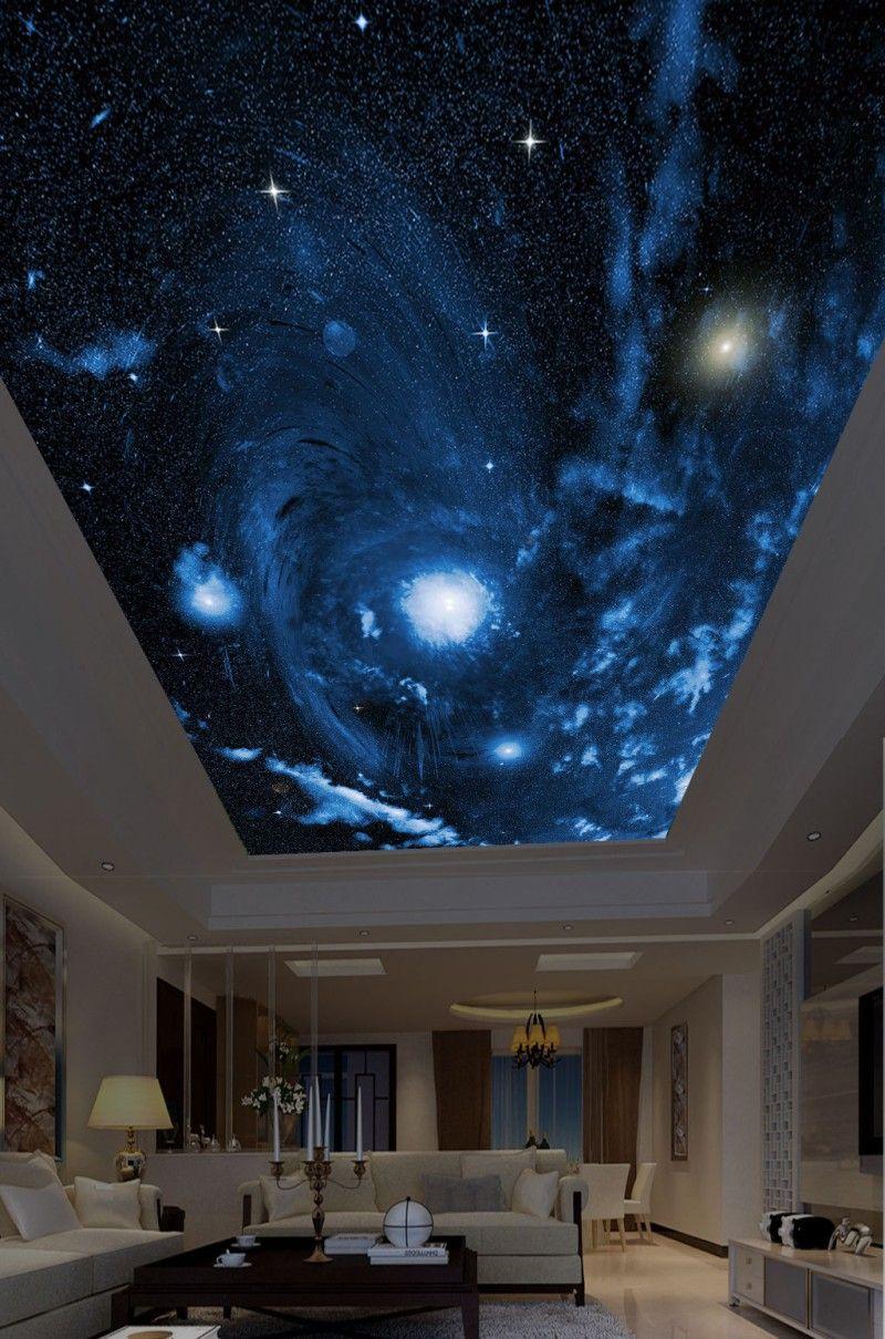 Sur mesure 3D Photo papier peint Les plafonds Belle ciel étoilé grande image plafond de la chambre des enfants