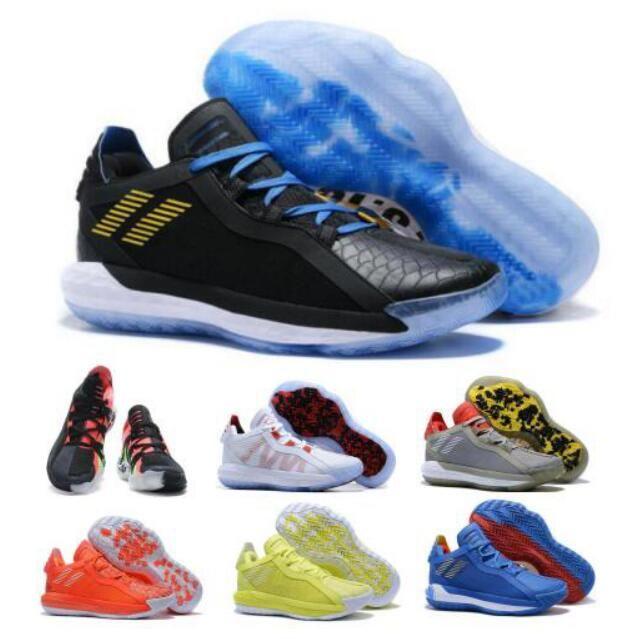 Heiße Dame 6 Mens-Basketball-Schuh-Turnschuh-Solar-Rot Weiß Zeit Sonic the Hedgehog Lillard 6s VI-Qualitäts-Sport-Trainer-Schuhe Chaussures