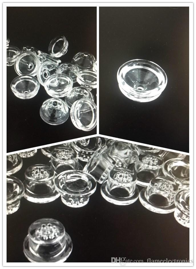 Dicker Glasschal Ersatz Bildschirm Mesh-Schüsseln für Silikon-Pfeife Silicon Pfeife Glas Wasser Bong Rauchen Zubehör DHL