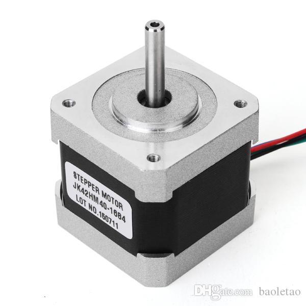 NEMA 17 42 Moteur pas à pas hybride 0,9 degré 40mm 1.68A Moteur pas à pas à 2 phases pour routeur CNC