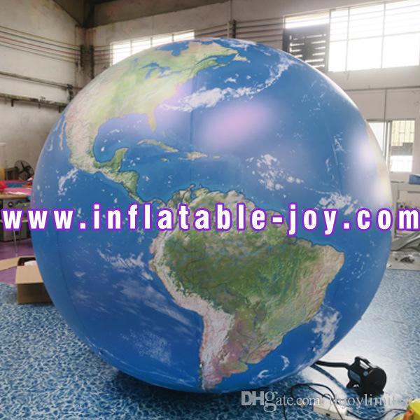 Бесплатный воздушный корабль до двери, надувные планеты для рекламы, гигантский надувной шар земного шара для защиты окружающей среды