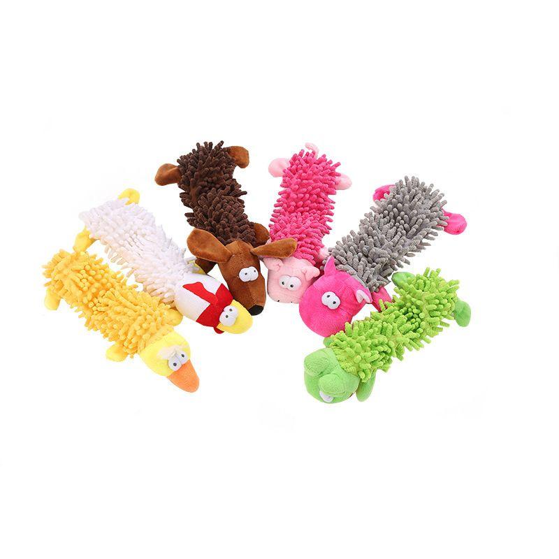 Felpa Squeaky juguetes para mascotas perro para perros pequeños Forma Animal Perro de perrito de juguete del Chew Animales Perros Accesorios Productos Honden Juguetes