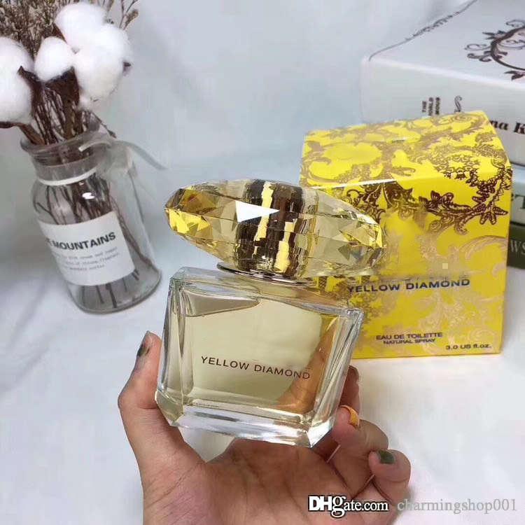 Parfüme Düfte für Frauen YELLOW DIAMOND EDP Parfum 90ml Gute Qualität Spray Parfüm Frische und angenehmen Duft SPRAY