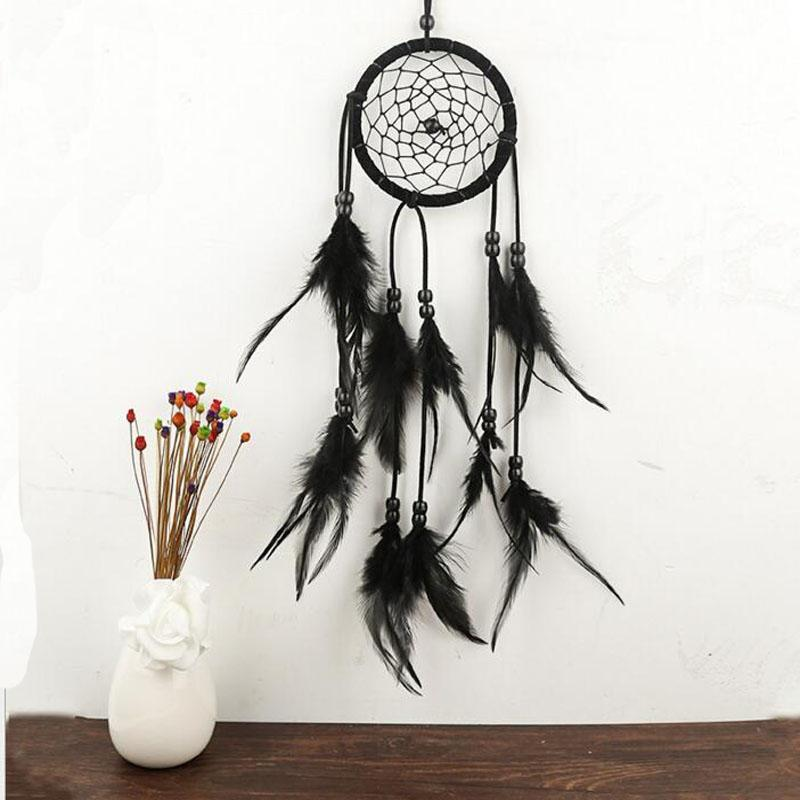 Fairy Dream Catcher Antique Imitation Enchanted Forest Dreamcatcher Gift Handmade Dream Net With Feathers Wall Hanging Decoration Ornament
