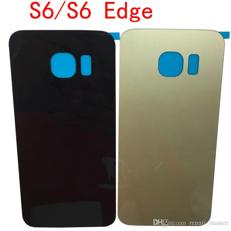 OEM For SAMSUNG Galaxy S6 S6edge Back Glass Battery Cover Housing case Replacement For SAMSUNG GALAXY G920F G925F