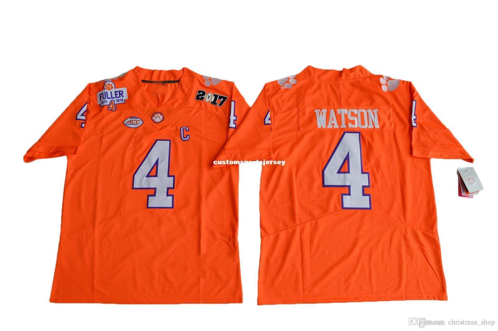 2021 Cheap Clemson Tigers DeShaun Watson #4 Diamond Quest Jersey ...