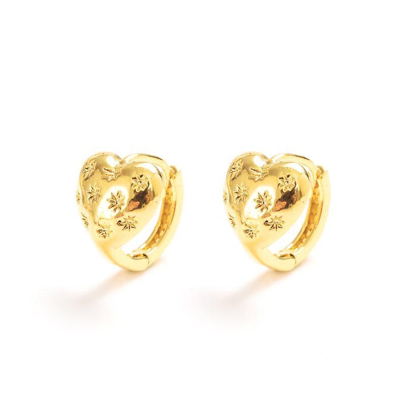 Bangrui Uomini nuziale monili dell'oro di colore Brincos donne superiori ragazze di nozze orecchini a cerchio regali festa nuziale