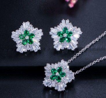 plus couleur haute qualité bas prix mariage mariée cristal diamnd dame ensemble collier boucles d'oreilles 32ere