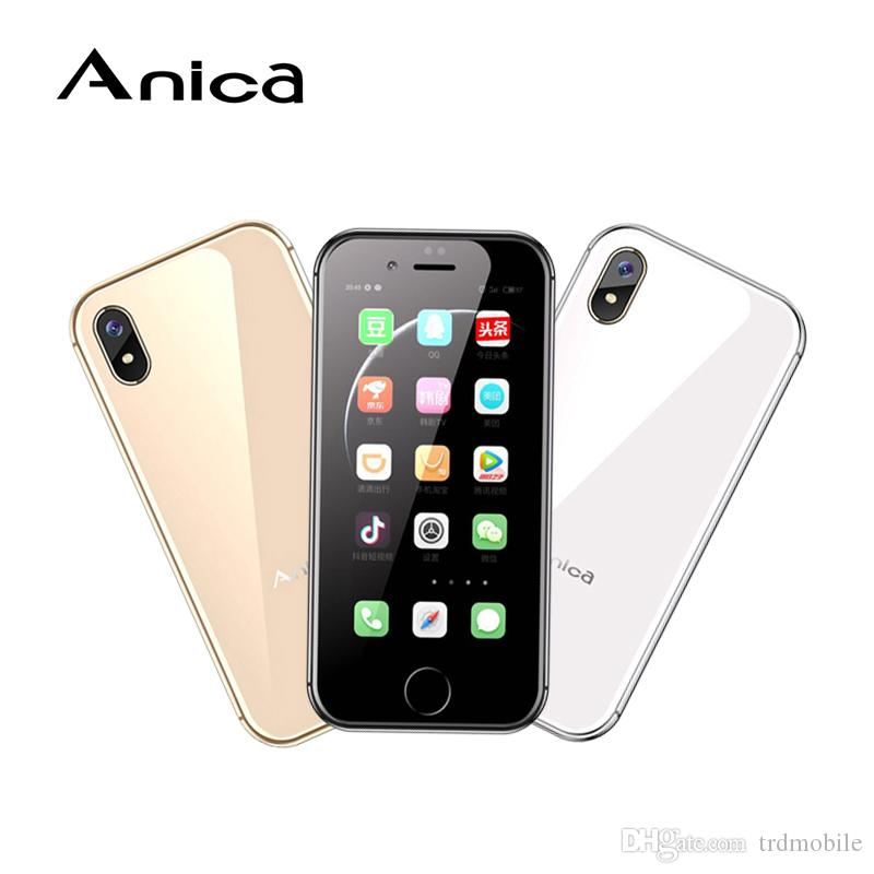 "2.5"" Mini ANICAi8 MTK6580 QuadCore 2G+16GB Show 4G LTE GPS WIFI Smarthone Google Play Android Cellphones Mobile Unlocked 32GB TF DHL Free"