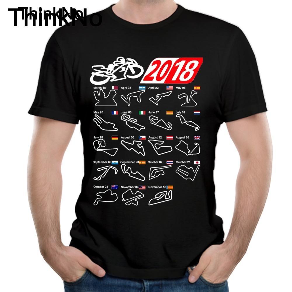 High - Q Motogp Calendar 2019 Circuits Black T Shirt Leisure Man Custom Moto Gp Motorcycle Race T-shirt