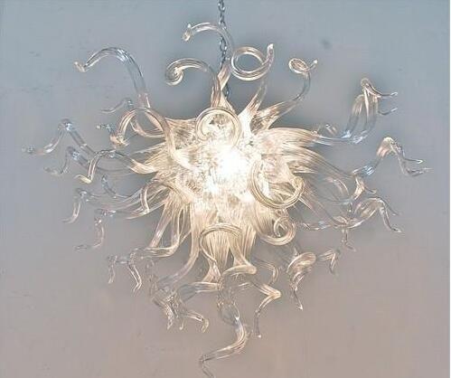 الحديث واضح أبيض اللون كريستال اليد في مهب زجاج نمط الحديثة سلسلة إضاءة الثريا الجواب مصابيح قلادة