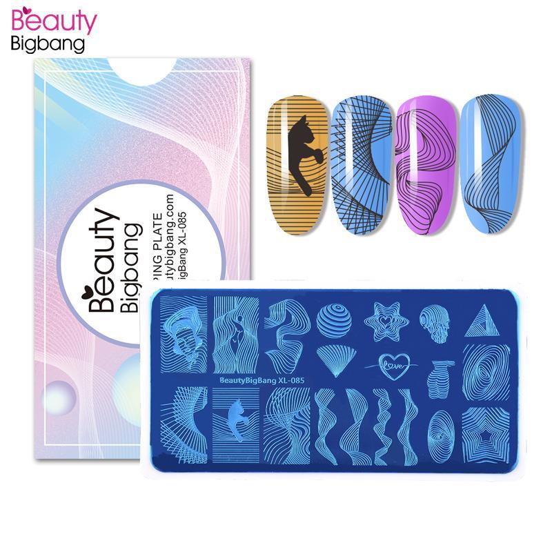 Beautybigbang ногтей Stamping Тарелки Набор Dot Точка смазливая Изображение Урожай из нержавеющей стали Гвозди Art Stamp Шаблон Mold XL-044 XL-086