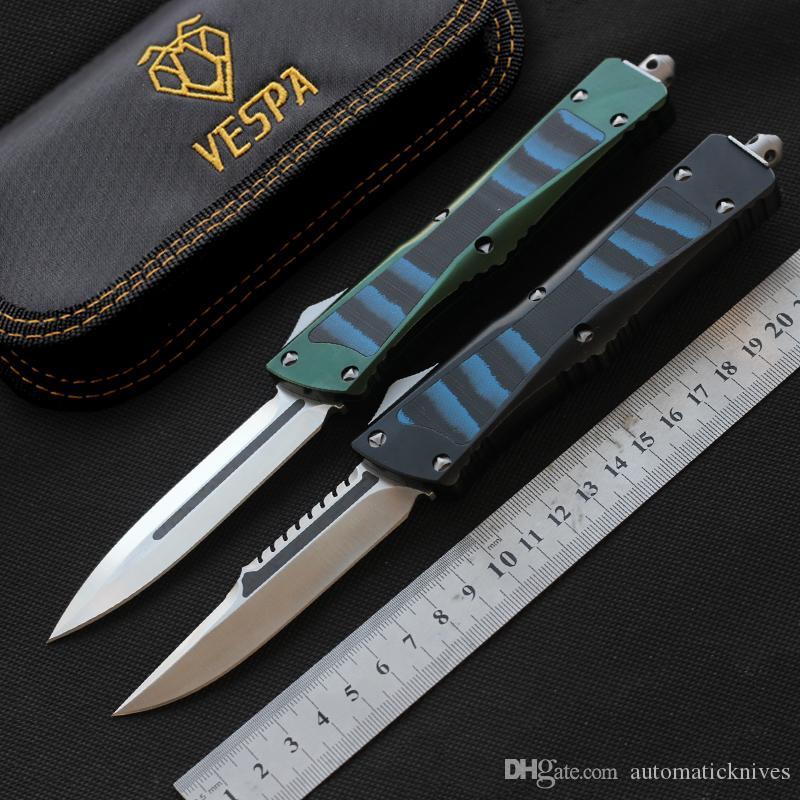 VESPA haut de couteaux de haute qualité lame de D2 Aluminium + TC4 + poignée G10 extérieur couteau de chasse de camping tactique EDC poche outil couteau de survie