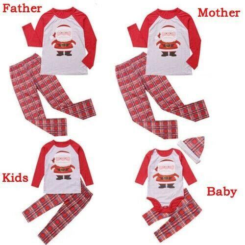 Family Christmas Pajamas Set Xmas Pjs Matching Pyjamas Adult Kids Xmas Sleepwear