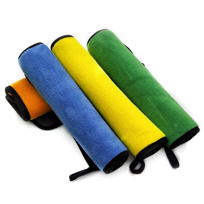 자동차 케어 연마 양면 세척 수건 플러시 세척 건조 수건 강한 두꺼운 폴리 에스테르 섬유 자동차 청소 천