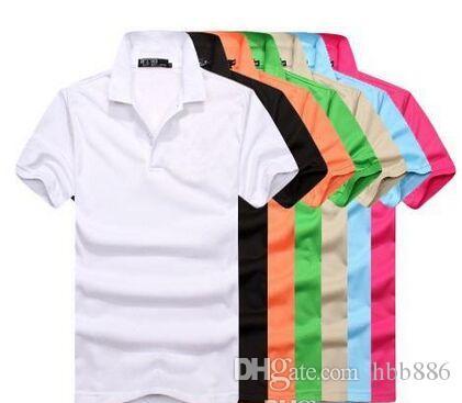 Caliente de la venta de la nueva manera de bordado grande de lujo pequeñas camisetas de cocodrilo caballo para la camisa de polo de los hombres de moda hombre Polo S-3XL ENVÍO GRATIS