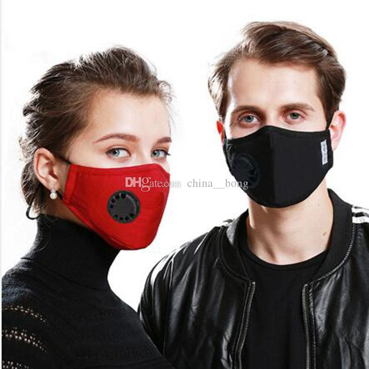 Маски для лица Антипылевые, дымовые, наружные, внутренние регулируемая многоразовая защита с 2 фильтрами PM2. 5 Маска для рта DHL free In stock