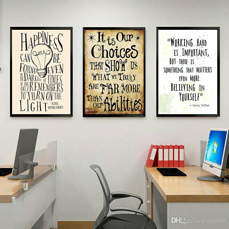 2019 3 Panels Quotes In Harry Potter HD Canvas Print Painting Modern Harry Potter Poster For Kids Room And fice Decor No Frame From Adui88 $20 11