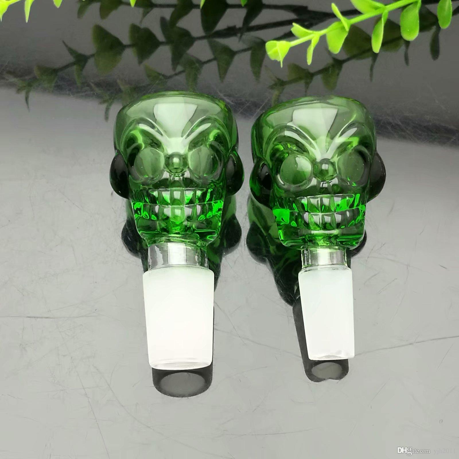 Coloured Alien Glass Bubble Head Cigarette Accessories Wholesale Glass Water Pipes Tobacco Accessories Glass Ash Catcher