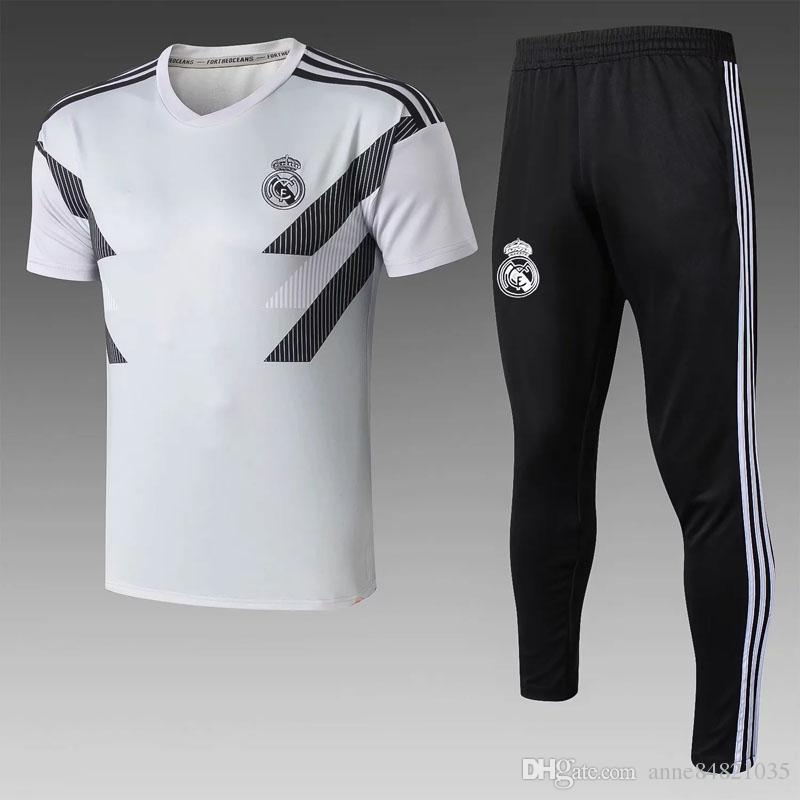 2018 2019 real madrid soccer polo shirts tracksuit HAZARD football Shirts ASENSIO soccer maillot de foot training suits camiseta de futbol