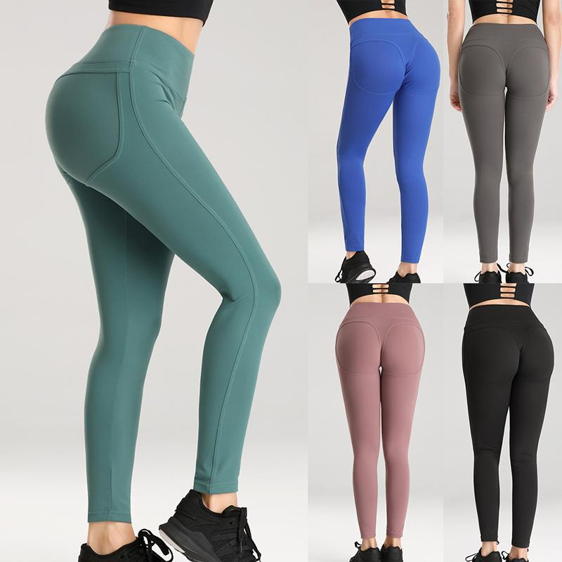 Women Yoga Leggings Sports Exercise Pants Fitness Running Trousers Gym Slim Leggings Sexy Hips Push Up High Waist Pants