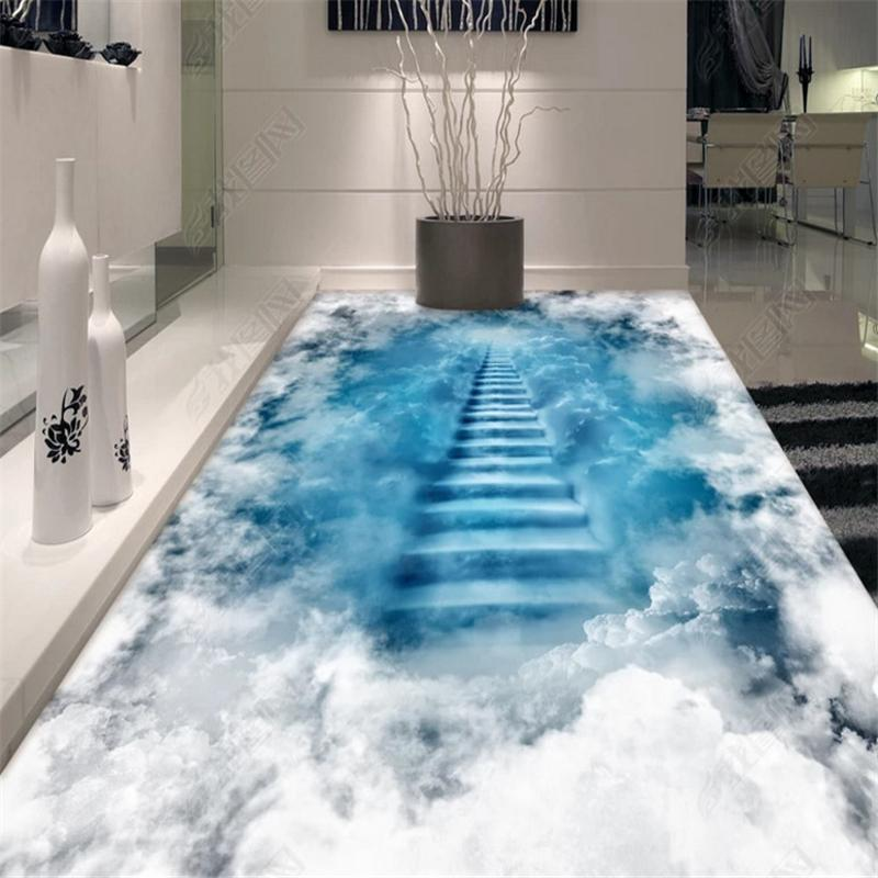 Moda costume clássicos impermeáveis papel de parede água Cachoeira sonhos selva decoração de casa 3D piso pintura papéis de parede