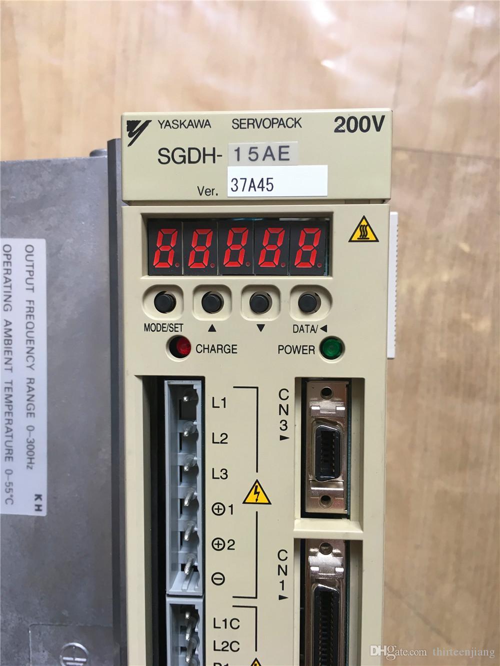 1 PC Original Yaskawa AC Servo Acionamento SGDH-15AE Novo Na Caixa / Usado Em Bom Estado Teste OK Frete Grátis Expedited