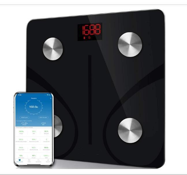 2020010986 Bluetooth Body Fat Scale Смарт BMI Масштаб Цифровой ванной Беспроводной Вес Масштаб