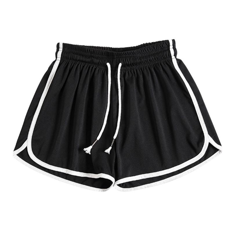 Running Shorts Ladies Sports Fitness Comfortable Lace Elastic Band Shorts Home Casual Running Sports #YL5