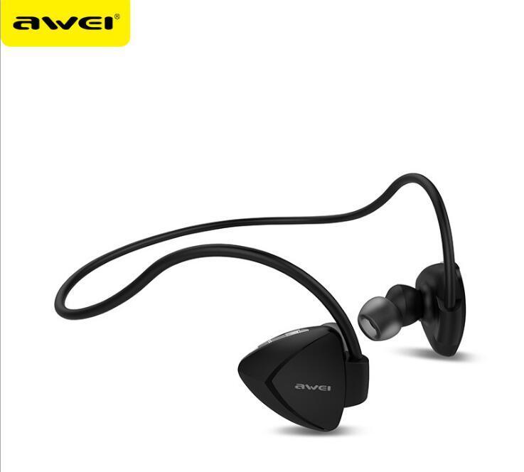 스마트 폰 삼성 AWEI A840BL을위한 마이크 원래 AWEI A840BL 스포츠 무선 블루투스 이어폰 헤드셋 헤드폰