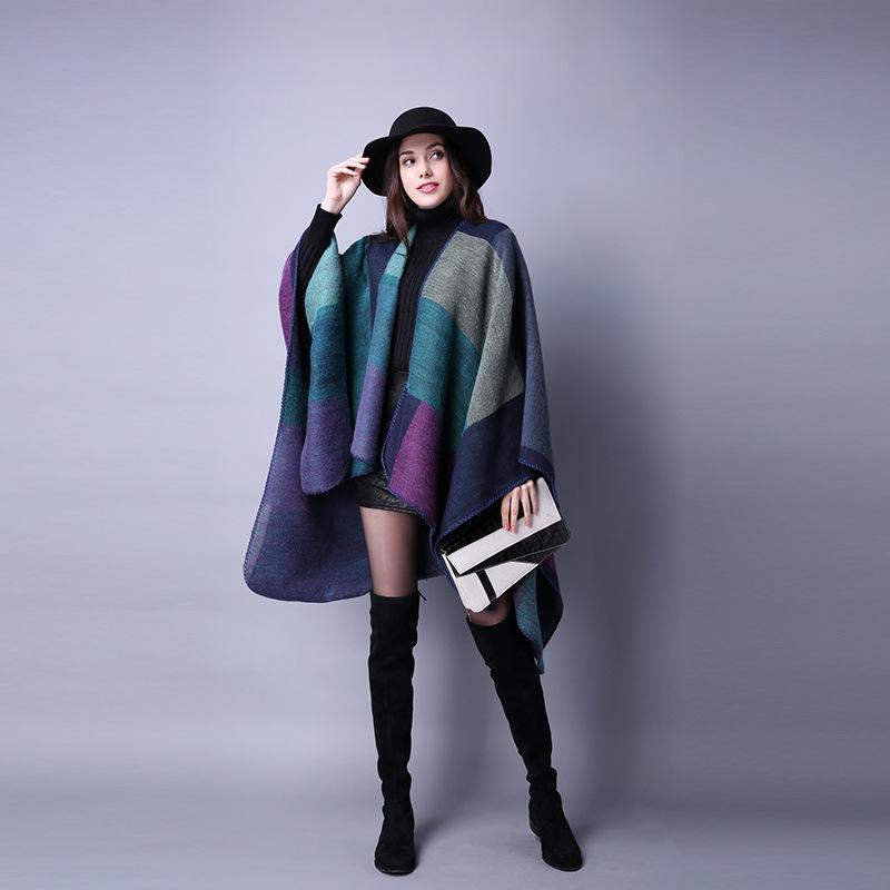 Soft Woman Grid Sciarpa Fashion Warm Winter Shawls Viaggi all'aperto Signore Signore Lana Mantello Mantello di Natale Party Cape Lt-Tta1254