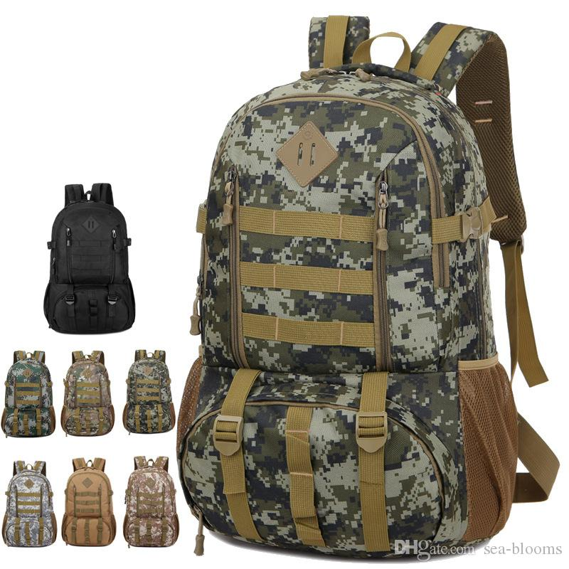 New Outdoor Mountaineering Bag Travel Backpack 50L Large Capacity Camouflage Backpack Men Women Camping Bags Support FBA Drop Shipping M39F