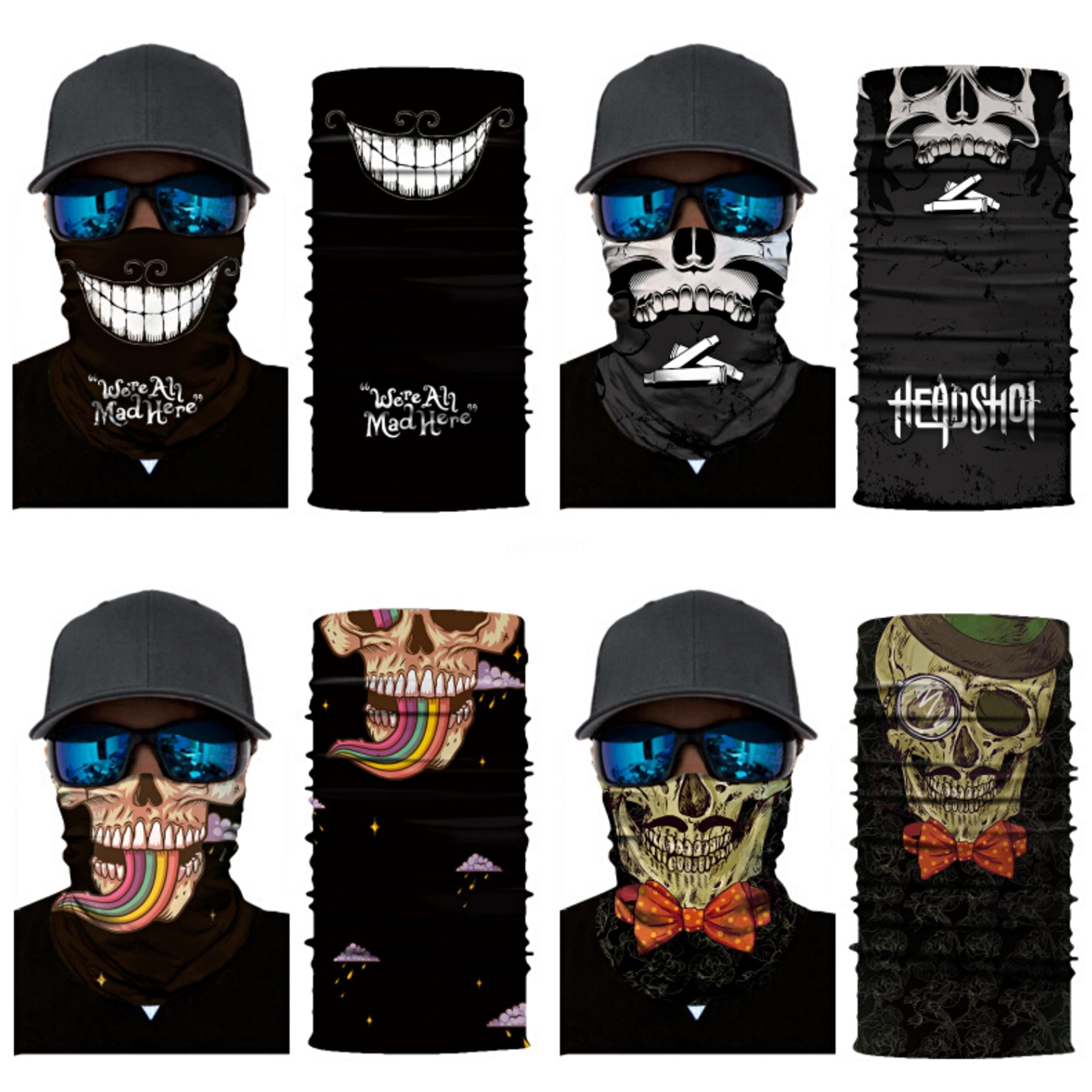 S7GAD Pirate Bicycle Halloween Skull Magic Skull Scarf Cycle Mask Mask Men Women CS Disguise Bandana Riding Equipment Half Face Face Skul#192
