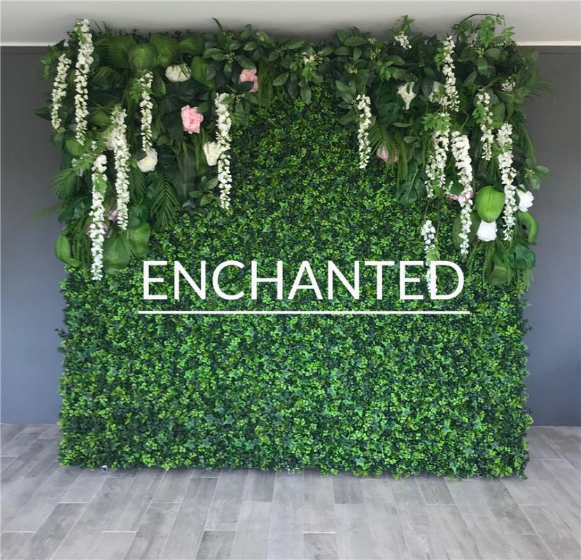 Alta Qualidade Tropical Parede E Falso Flor Row Use Rose plantas para decoração Fundo Do Casamento