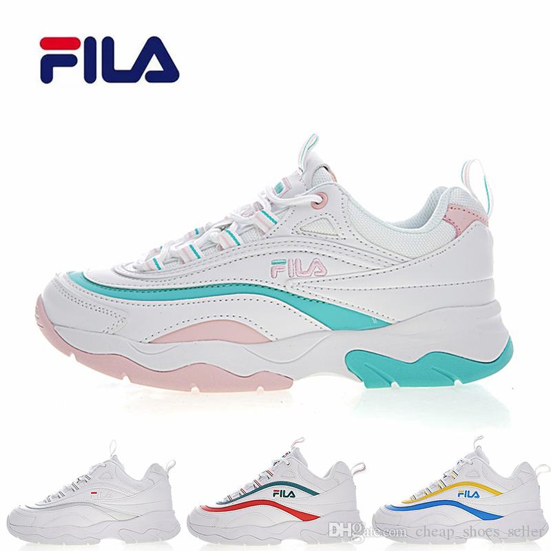 2019 2019 New Athletic Brand Folder X FILA ® Ray Dad Mens Designer Sports  Running Shoes For Men Women Luxury Mens Womens Casual Trainers Sneakers  From ...