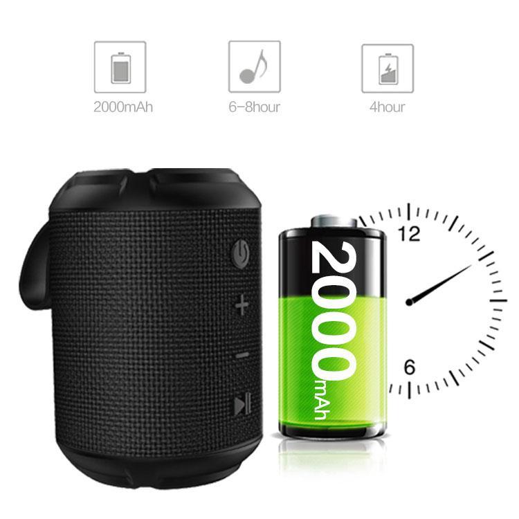 В наличии! WinBridge Портативный Bluetooth Speaker P6, Bluetooth Dual Сопряжение Loud беспроводной мини-динамик, IPX5 водонепроницаемый для путешествий, на открытом воздухе