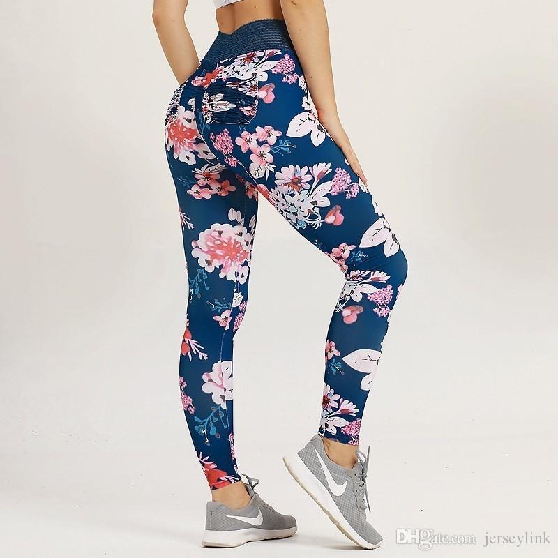 Gedruckt Yoga Hosen Frauen 2019 Neue Hohe Taille Sport Frauen Fitness Sport Yoga Leggings Gym Jogging Laufhose Hosen # 1009044