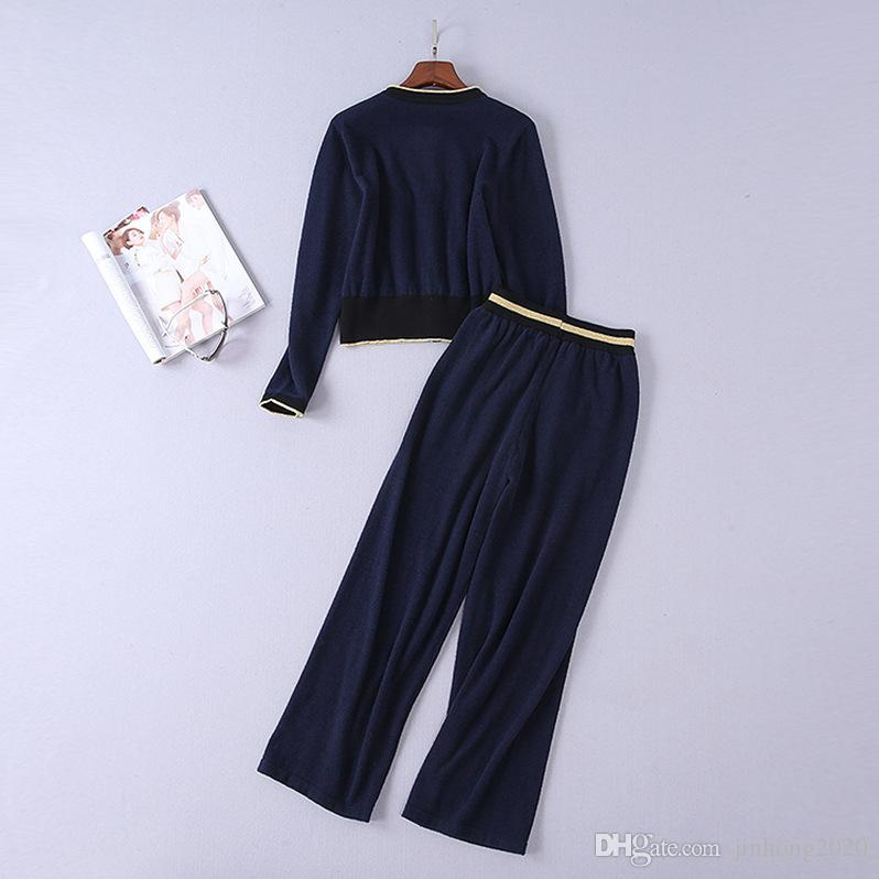 Girls velvet round neck casual A-line sweater trouser clothing suit