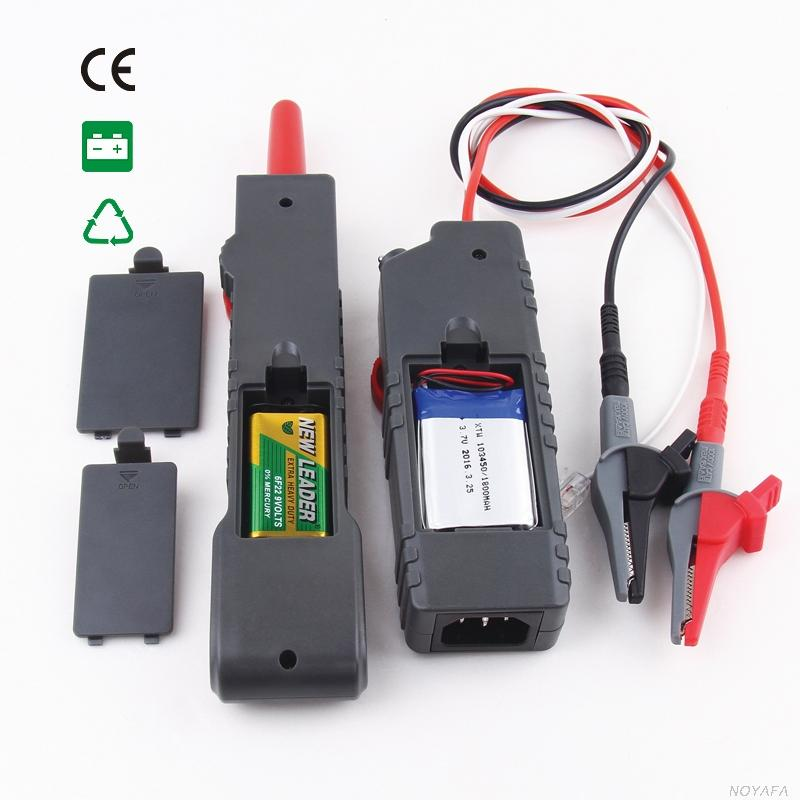 Freeshipping Noaya High & Low Voltage Cable tester Underground Cable Finder Anti-Interference Wire Tracker RJ45 RJ11 BNC Tester NF-820
