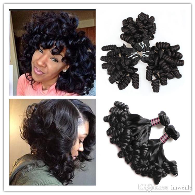Brazilian Virgin Hair Bundles Aunty Funmi Curl 100% Unprocessed Human Hair Weaves Fumi Weave Extensions Bouncy Curl Free Shipping J158