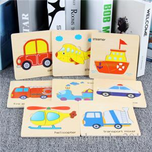 Baby Toys Wooden Puzzle Cute Cartoon Animal Intelligence Kids Educational Brain Teaser Children Tangram Shapes Jigsaw Gifts DLH184