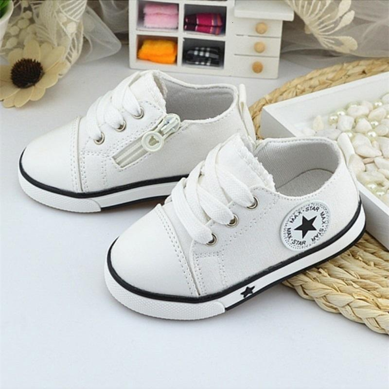 Mix Wholesale Breathable Canvas 1-3 Years Old Boys 4 Color Comfortable Girls Baby Sneakers Kids Toddler Shoes